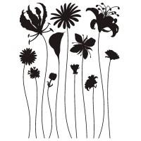 Стикери A&G 65x85 см, 1ч., цветя