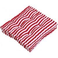 Възглавница за сядане MARIN цвят 4 40х40 червено/бяло райе