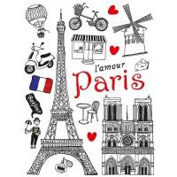 Стикер 65х85 Обичам Париж