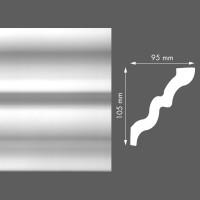 Стиропорен корниз LX141 95х105/2м