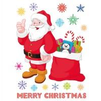 Стикери A&G 65x85 см, 1 ч., Честита Коледа