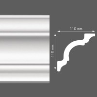 Стиропорен корниз LX150 110х110/2м