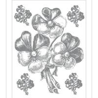 Стикери A&G 65x85 см, 1ч., букет сребро