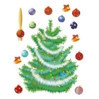 Стикери A&G 65x85 см, 1 ч., Коледно дърво