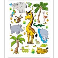 Стикери A&G 65x85 см, 1ч., джунгла