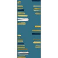 Пътека City 80см/л.м. синьо жълти черти