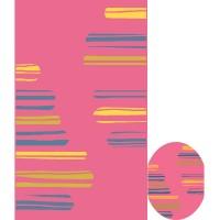 Килим City розово жълти черти