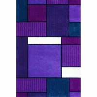 Килим Impression квадрати лилаво-синьо