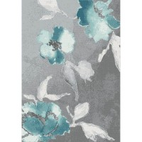 Килим Casino синьо цвете сиво