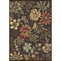 Килим Genova цветя черно 160х230