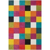 килим Плей цветни квадрати 80х150