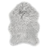 Еко кожа Ovium дълъг косъм сиво 55х80