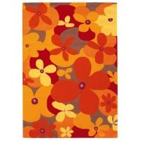 Килим Joy - Colourful Summer оранж цветя 70х140
