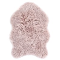 Еко кожа Ovium дълъг косъм розово 55х80