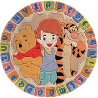 Top Line килим кръгъл 150х150 азбука беж