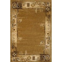 Промо килим Oriental рамка орнаменти шоко