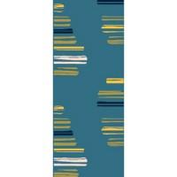 Килим City синьо жълти черти 80х150