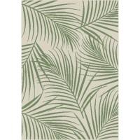 Килим Cottage зелени листа крем