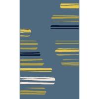 Килим City синьо жълти черти
