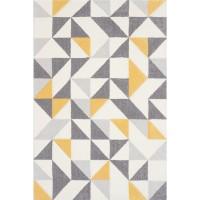 Килим Пастел триъгълници жълто сив