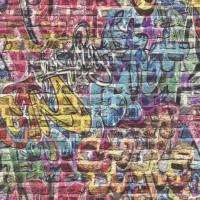 Тапет Кидс&Тийнс 3 шарени графити