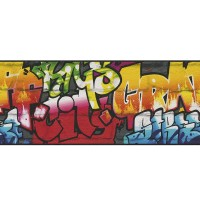 Фриз Кидс&Тийнс 3 розови графити антрацит (Кидс&Тийнс 2)
