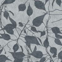 Тапет Ню Елегaнца металик листа резеда-сиво