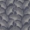 Тапет Карат сребърни листа мазилка черно