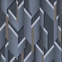 Тапет Фешън 4Уолс 2 сини 3D фигури сив
