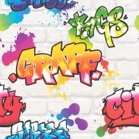 Тапет Кидс&Тийнс 3 шарени графити бяло (The Best 3)