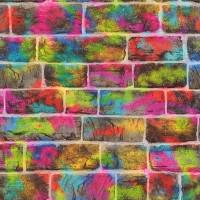 Тапет Кидс&Тийнс 2 urban art тухли цветно