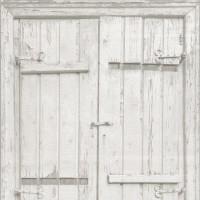 Тапет Криспи дървени кепенци бяло-сиво