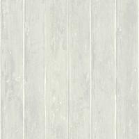 Тапет Тухли & Дърво дъски сив