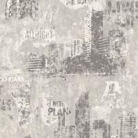 Тапет Кидс&Тийнс 3 бетонен град сиво-бяло