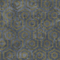 Тапет Ню Елегaнца металик фигури синьо