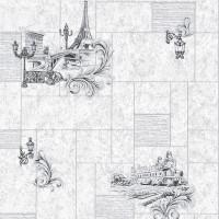 Тапет Бестселър 3 плочки Париж сиво