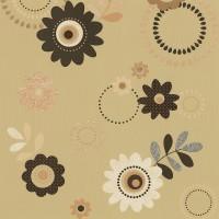 Тапет Best of 2. II кафяви цветя охра