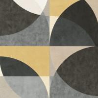 Тапет ELLE кръгове жълт сив