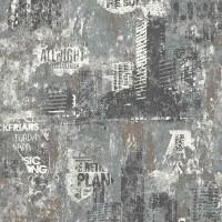 Тапет Кидс&Тийнс 3 бетонен град сиво-беж