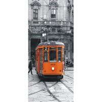 фототапет Креатив Вертикал 90x202 см, 1 ч., трамвай