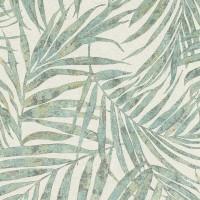 Тапет Инспирейшън 2 зелени палмови клонки крем