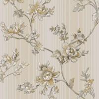 Тапет Ню Елегaнца сиво-беж големи цветя сиво
