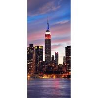 фототапет Креатив Вертикал 90x202 см, 1 ч., Ню Йорк залез