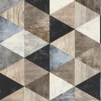 Тапет Тухли & Дърво дървени триъгълници беж