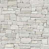 Тапет Тухли & Дърво зид сив