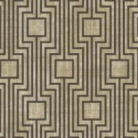 Тапет Ню Елегaнца кафяви квадрати лабиринт беж-сиво
