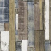 Тапет Тухли & Дърво дъски винтидж