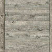 Тапет Тухли & Дърво дървен панел сиво