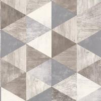 Тапет Тухли & Дърво дървени триъгълници сив