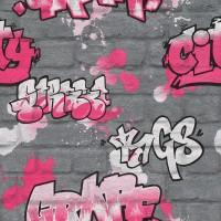 Тапет Кидс&Тийнс 3 розови графити сиво (Кидс&Тийнс 2)